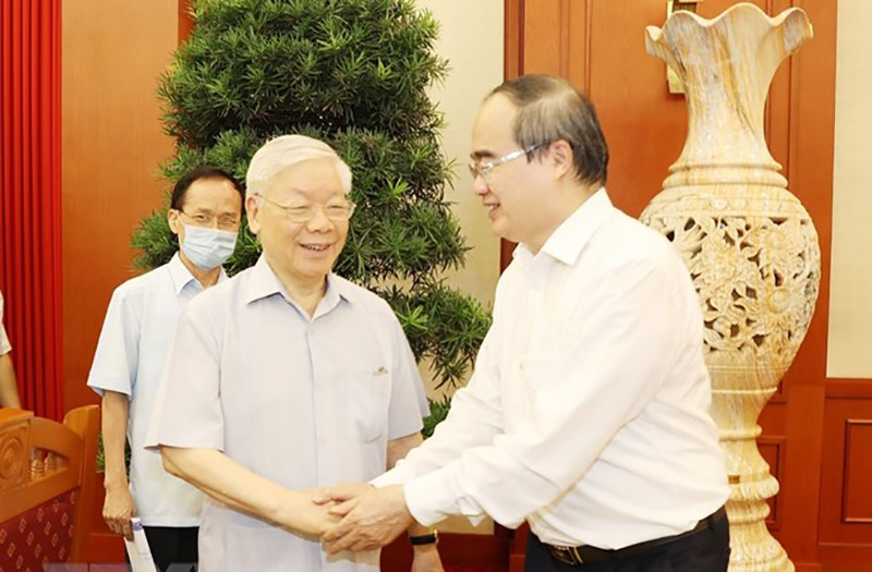Bộ Chính trị làm việc với 10 đảng bộ trực thuộc Trung ương - ảnh 2