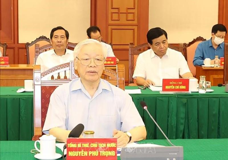 Tổng Bí thư chủ trì họp Tiểu ban Văn kiện Đại hội XIII - ảnh 1