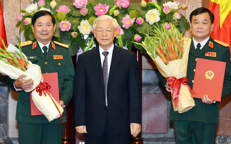 2 tướng quân đội được Chủ tịch nước thăng hàm Thượng tướng  - ảnh 1