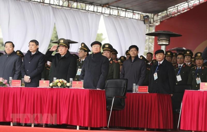 Chùm ảnh: Lễ xuất quân, diễn tập phương án bảo vệ Đại hội Đảng - ảnh 1