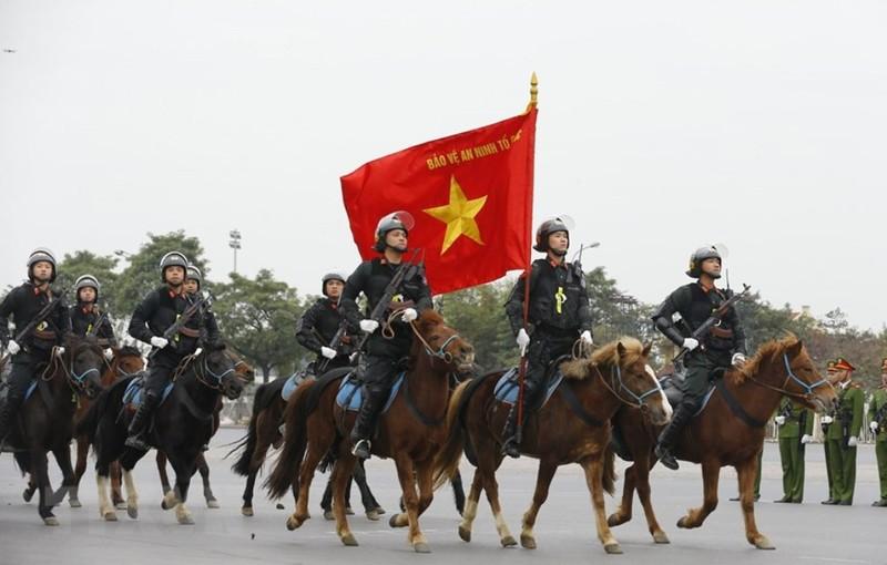 Chùm ảnh: Lễ xuất quân, diễn tập phương án bảo vệ Đại hội Đảng - ảnh 11