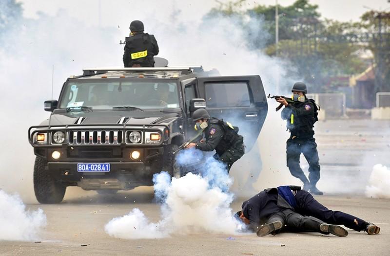 Chùm ảnh: Lễ xuất quân, diễn tập phương án bảo vệ Đại hội Đảng - ảnh 14