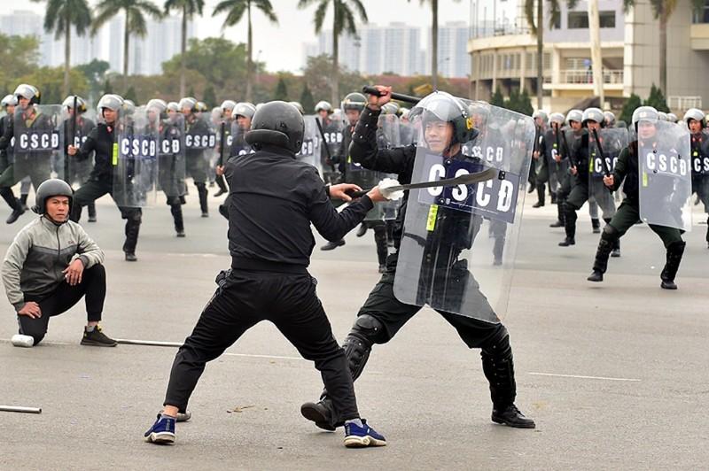 Chùm ảnh: Lễ xuất quân, diễn tập phương án bảo vệ Đại hội Đảng - ảnh 15