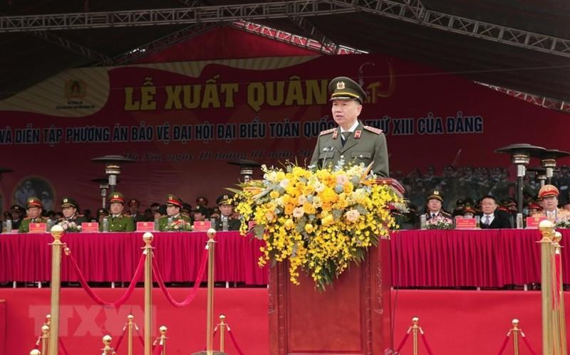 Chùm ảnh: Lễ xuất quân, diễn tập phương án bảo vệ Đại hội Đảng - ảnh 3