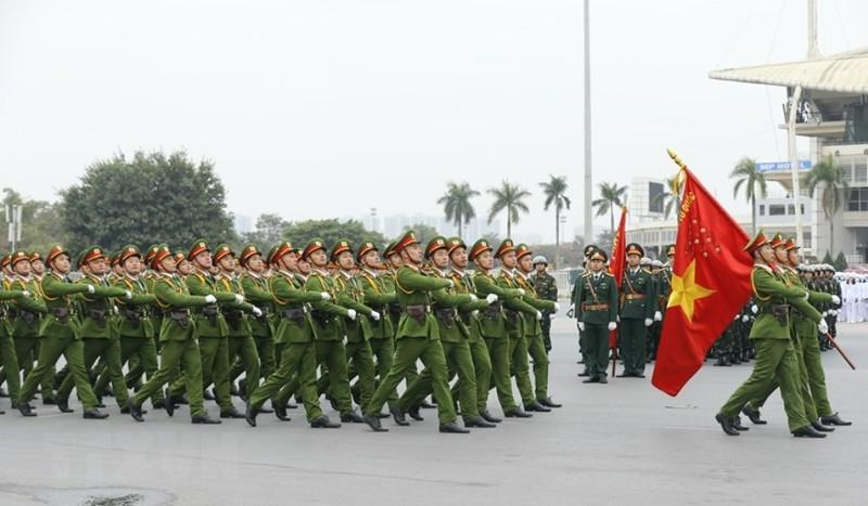 Chùm ảnh: Lễ xuất quân, diễn tập phương án bảo vệ Đại hội Đảng - ảnh 4