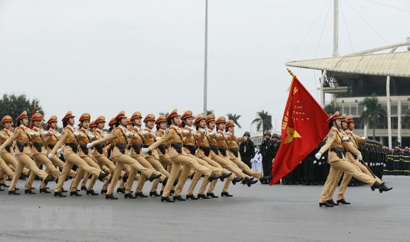 Chùm ảnh: Lễ xuất quân, diễn tập phương án bảo vệ Đại hội Đảng - ảnh 5
