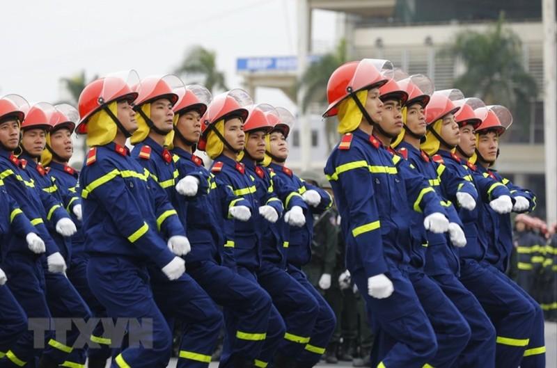 Chùm ảnh: Lễ xuất quân, diễn tập phương án bảo vệ Đại hội Đảng - ảnh 6