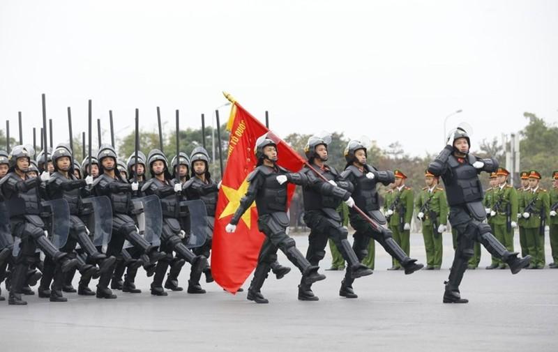 Chùm ảnh: Lễ xuất quân, diễn tập phương án bảo vệ Đại hội Đảng - ảnh 7