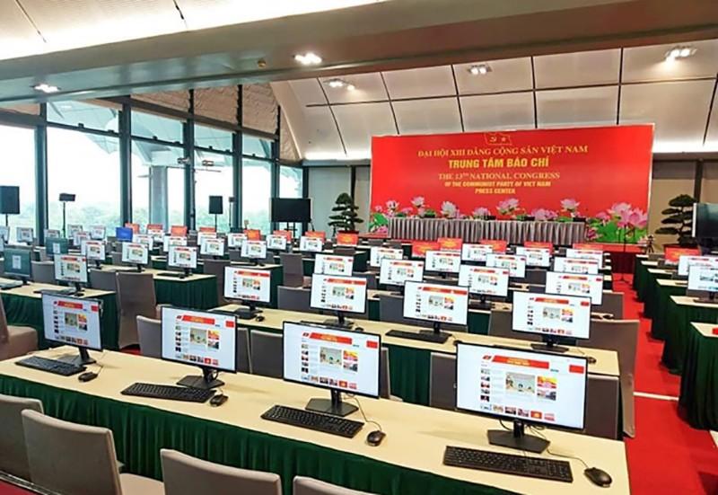 Trung tâm Báo chí Đại hội XIII sẵn sàng cho ngày khai trương - ảnh 1