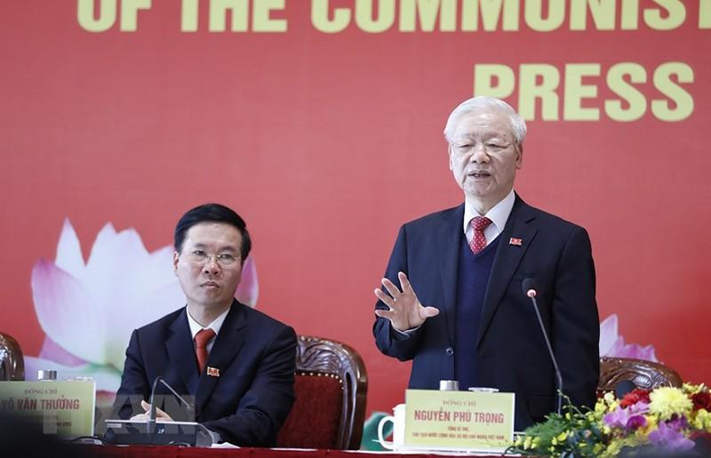 Tổng bí thư Nguyễn Phú Trọng trả lời tại họp báo sau Đại hội  - ảnh 2