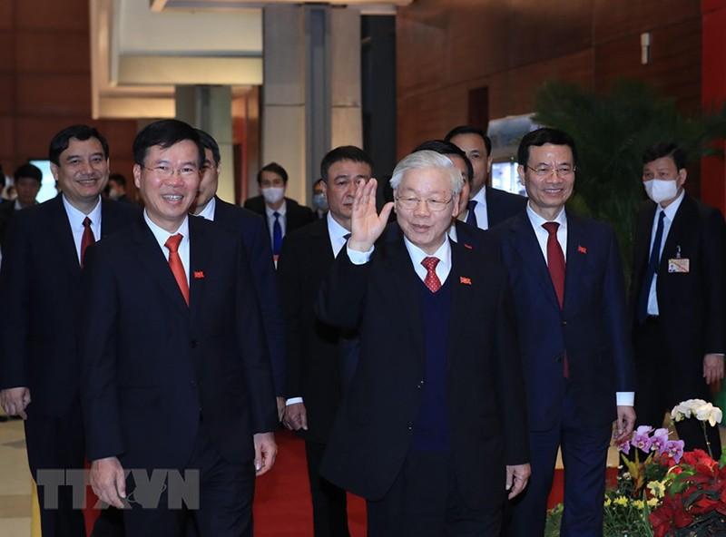 Tổng bí thư Nguyễn Phú Trọng trả lời tại họp báo sau Đại hội  - ảnh 1