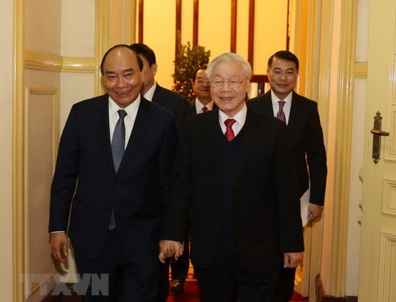 Tổng bí thư, Chủ tịch nước chúc tết lãnh đạo, nguyên lãnh đạo - ảnh 2
