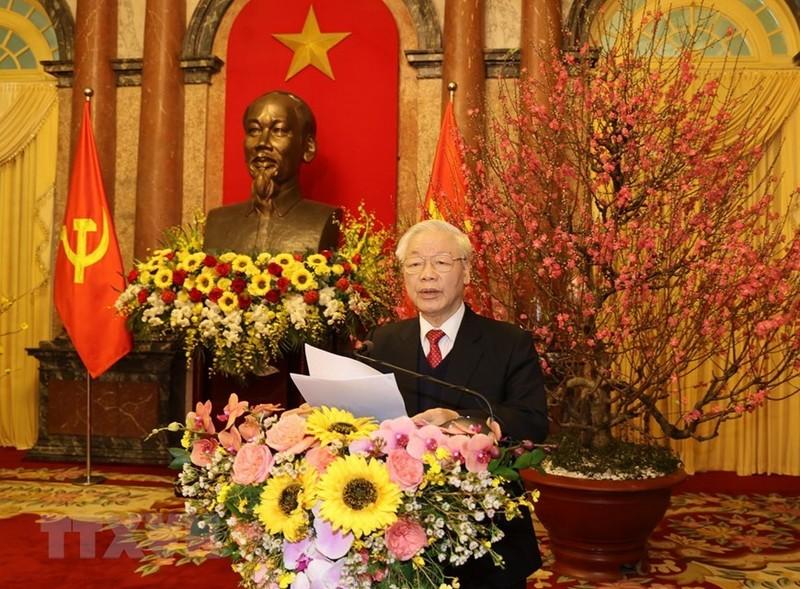 Tổng bí thư, Chủ tịch nước chúc tết lãnh đạo, nguyên lãnh đạo - ảnh 1