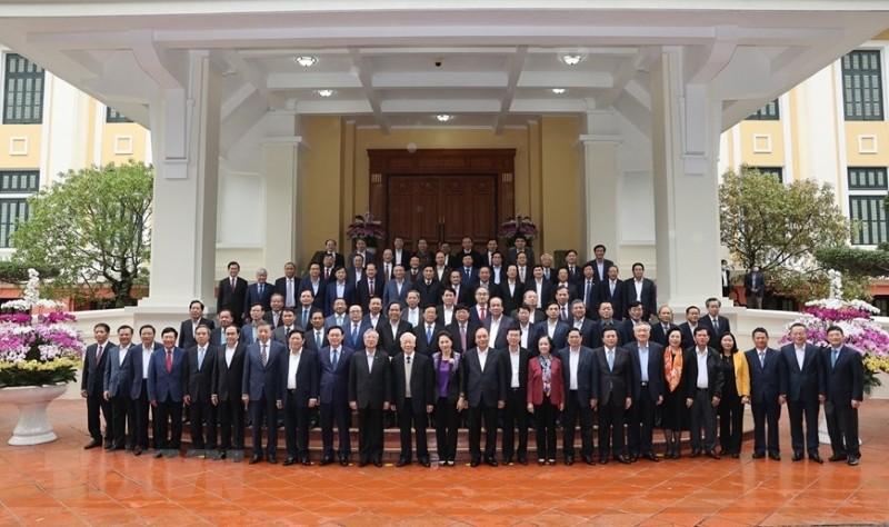 Bộ Chính trị gặp mặt các nguyên ủy viên không tái cử khóa XIII - ảnh 3