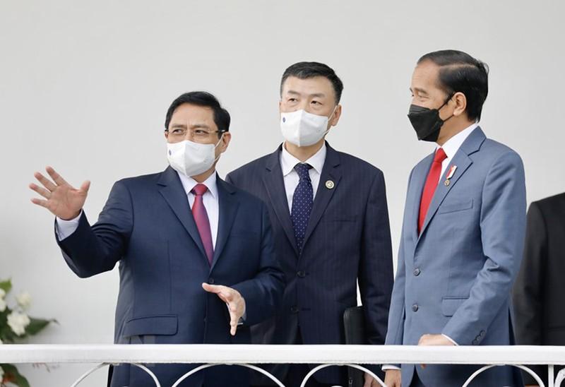 Hình ảnh chuyến công du đầu tiên của Thủ tướng Phạm Minh Chính - ảnh 8