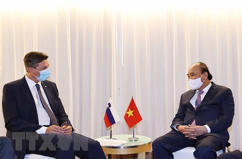 Chủ tịch nước Nguyễn Xuân Phúc gặp lãnh đạo các nước, tổ chức quốc tế - ảnh 4