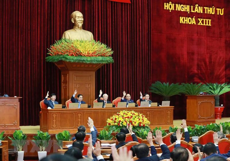 Chùm ảnh: Khai mạc hội nghị lần thứ tư BCH Trung ương Đảng khóa XIII - ảnh 1