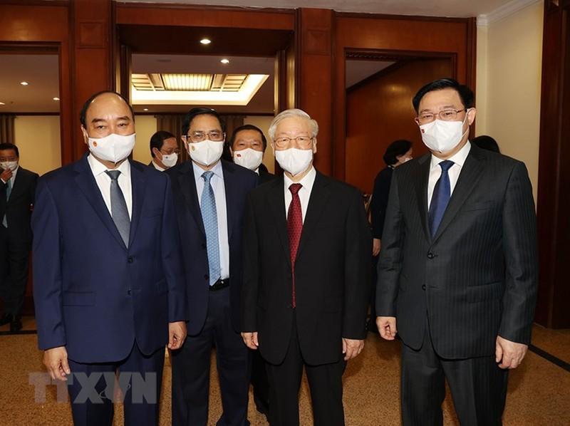 Chùm ảnh: Khai mạc hội nghị lần thứ tư BCH Trung ương Đảng khóa XIII - ảnh 3