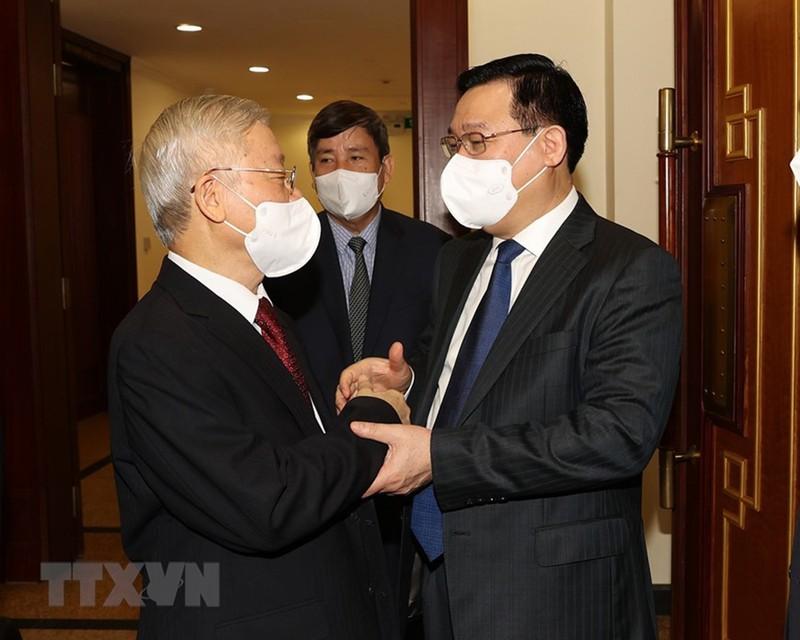 Chùm ảnh: Khai mạc hội nghị lần thứ tư BCH Trung ương Đảng khóa XIII - ảnh 4