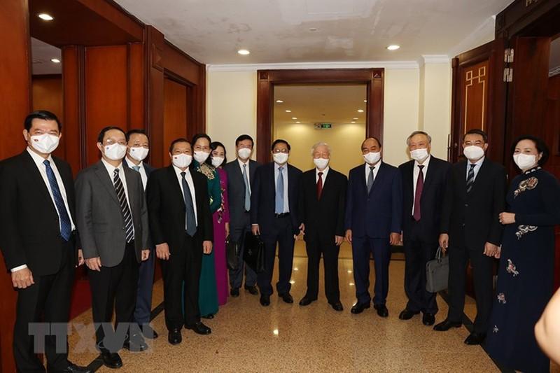 Chùm ảnh: Khai mạc hội nghị lần thứ tư BCH Trung ương Đảng khóa XIII - ảnh 5