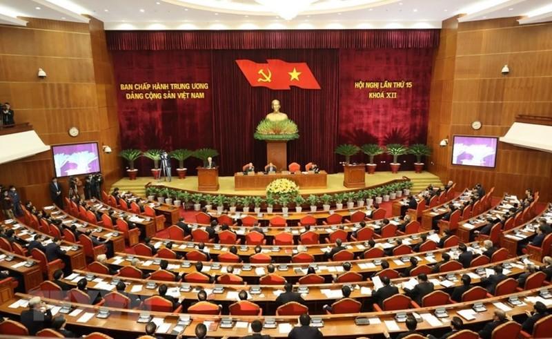 Chùm ảnh lãnh đạo Đảng, Nhà nước dự Hội nghị Trung ương 15 - ảnh 1