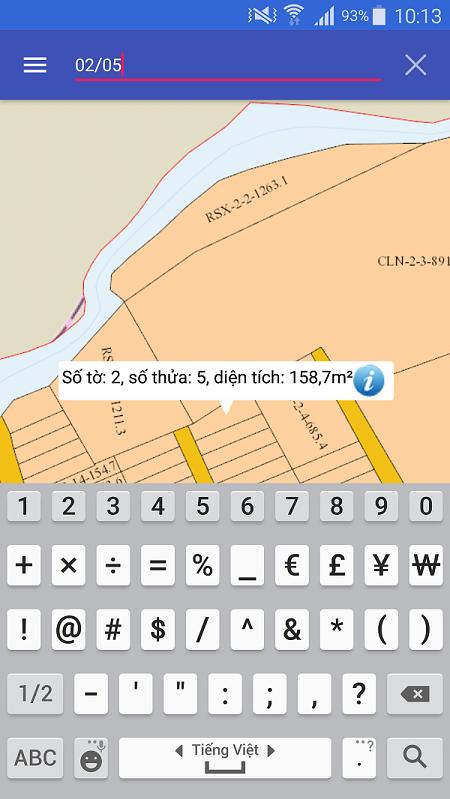 Xem quy hoạch sử dụng đất trên điện thoại - ảnh 1