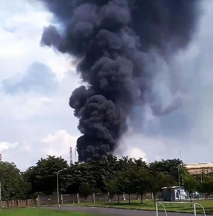Cháy trong Công ty Vedan - ảnh 1