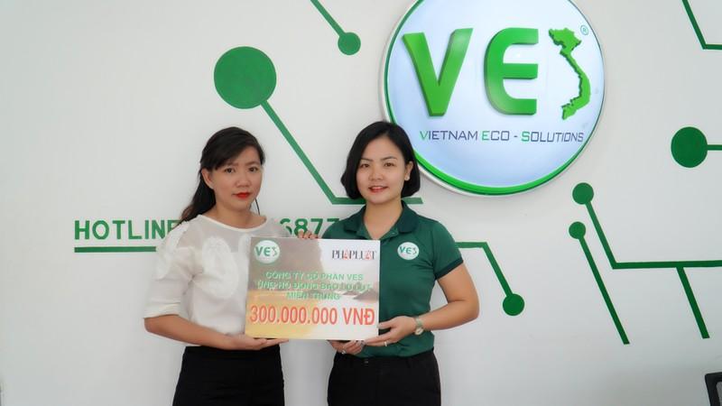 Công ty cổ phần VES hỗ trợ đồng bào miền Trung 300 triệu đồng - ảnh 1