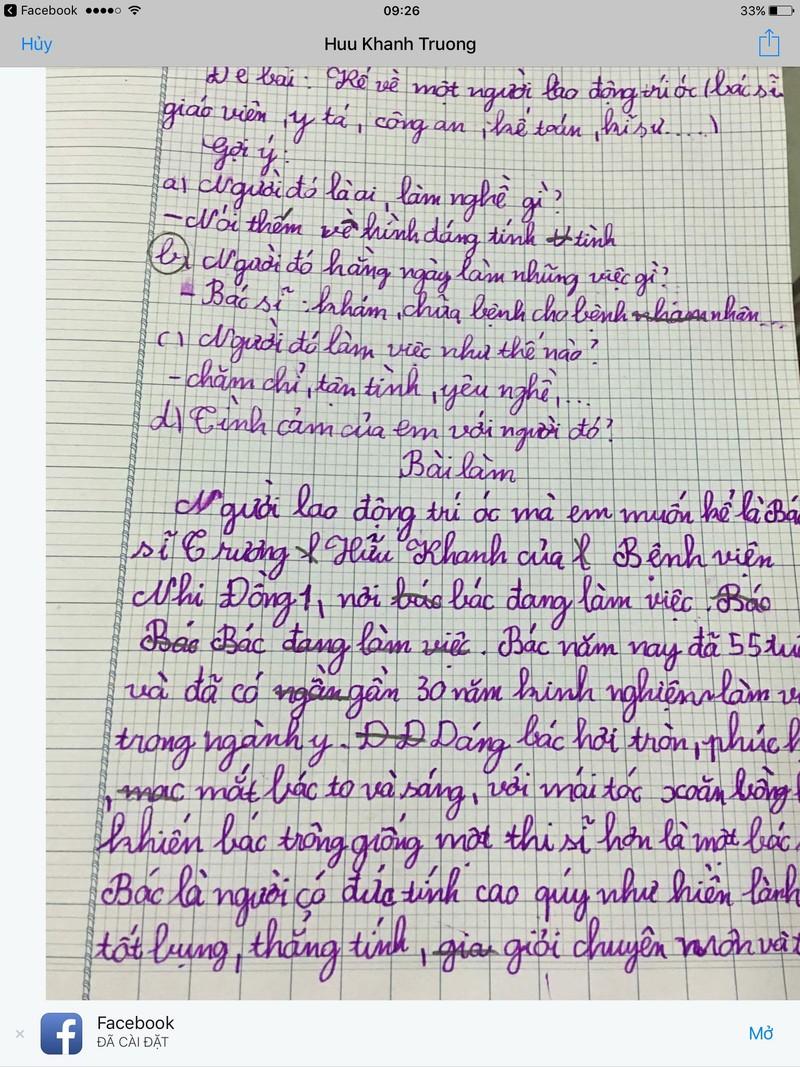 Bác sĩ Trương Hữu Khanh đi vào bài văn học sinh - ảnh 2