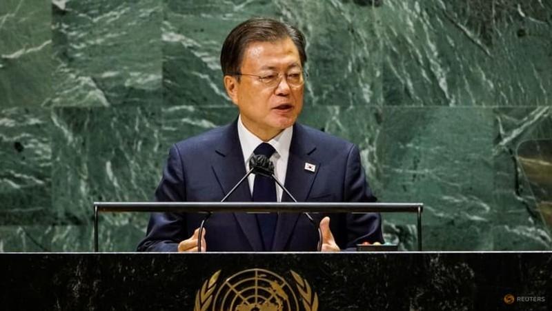 Họp Đại Hội đồng LHQ, ông Moon đề xuất tuyên bố chấm dứt chiến tranh Triều Tiên - ảnh 1