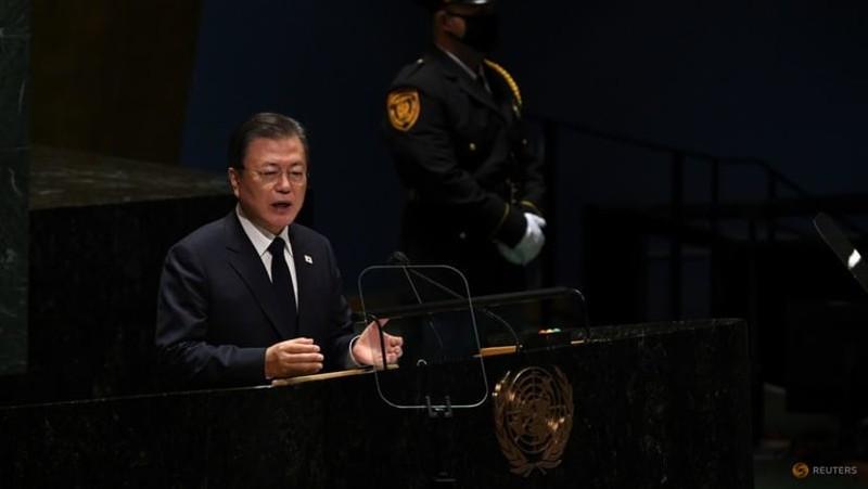 Họp Đại Hội đồng LHQ, ông Moon đề xuất tuyên bố chấm dứt chiến tranh Triều Tiên - ảnh 2