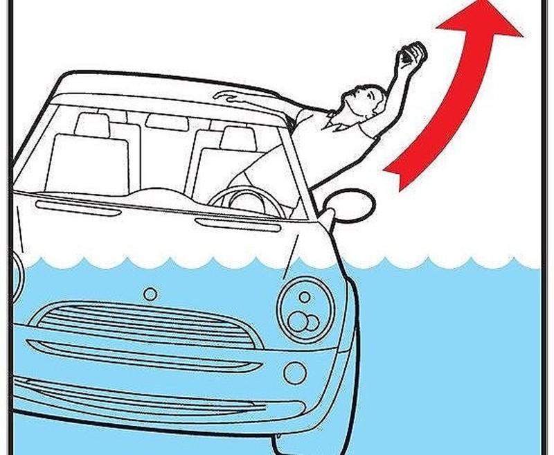 Cách thoát chết trong gang tấc khi ô tô lao xuống nước - ảnh 1