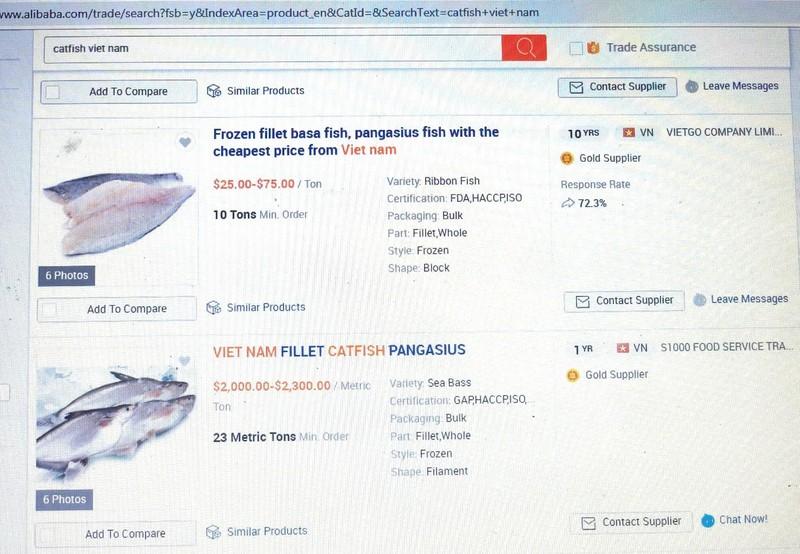 Cá tra 'trườn' lên sàn Alibaba, tấn công thị trường Trung Quốc - ảnh 1