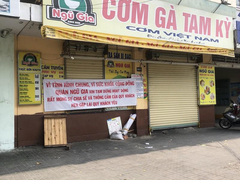 Hàng loạt quán ăn, salon tóc... đóng cửa chống dịch COVID-19 - ảnh 5