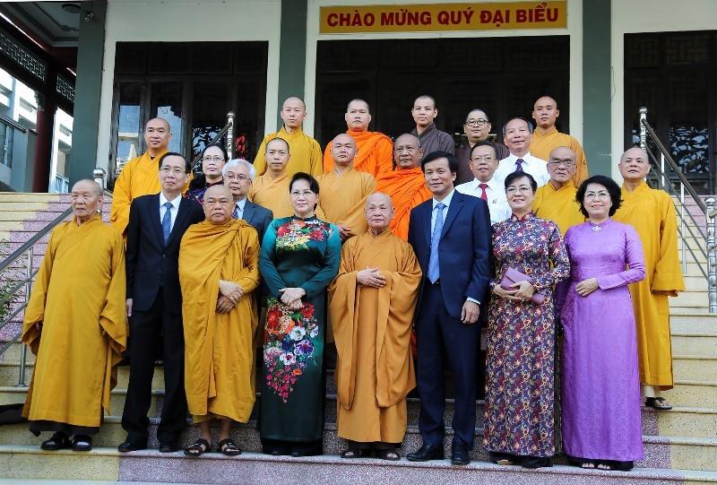 Chủ tịch Quốc hội chúc mừng Giáo hội Phật giáo tại TP.HCM - ảnh 2