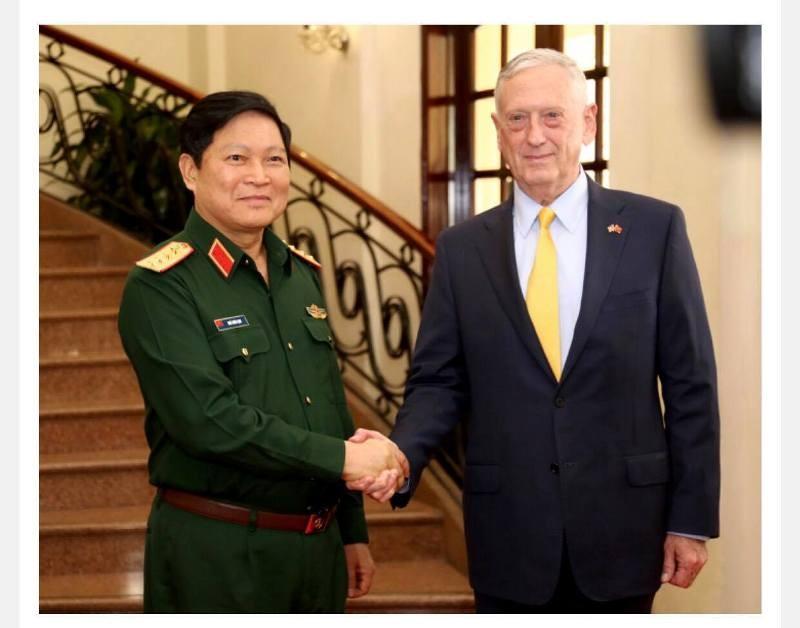 Đại tướng Ngô Xuân Lịch tiếp Bộ trưởng Quốc phòng Mỹ - ảnh 1