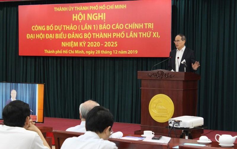 TP.HCM công bố dự thảo báo cáo chính trị ĐH Đảng bộ lần XI - ảnh 2