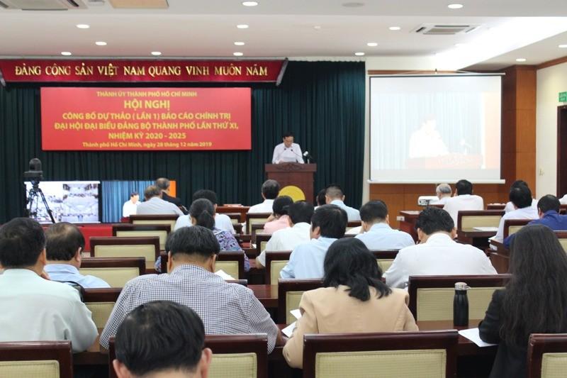 TP.HCM công bố dự thảo báo cáo chính trị ĐH Đảng bộ lần XI - ảnh 1