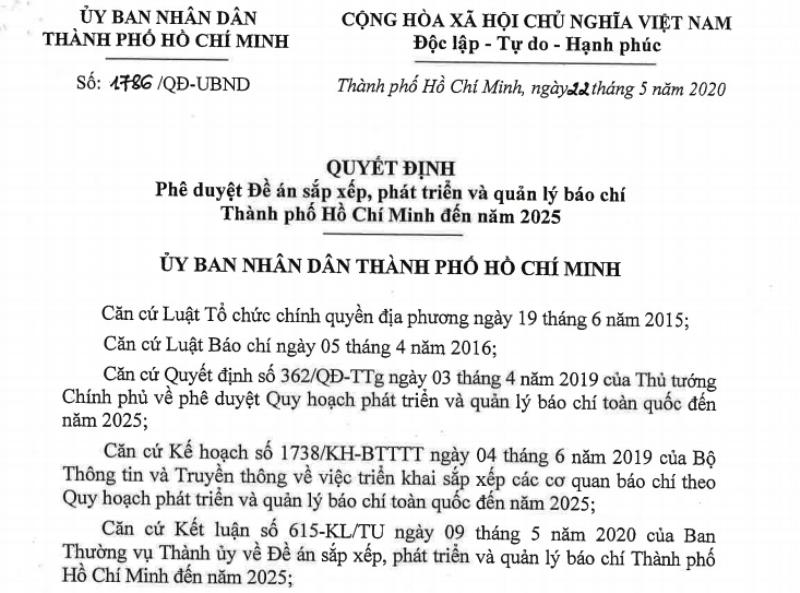 TP.HCM còn 19 cơ quan báo chí đến trước năm 2025 - ảnh 1