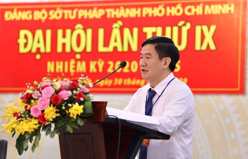 Ông Huỳnh Văn Hạnh tái đắc cử Bí thư Đảng ủy Sở Tư pháp  - ảnh 2