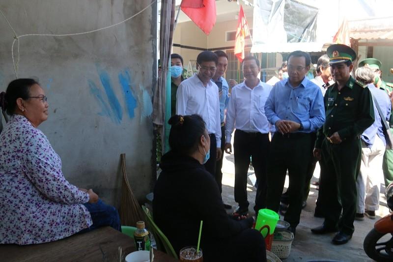Bí thư Nguyễn Văn Nên đi khảo sát tại xã đảo Thạnh An - ảnh 2
