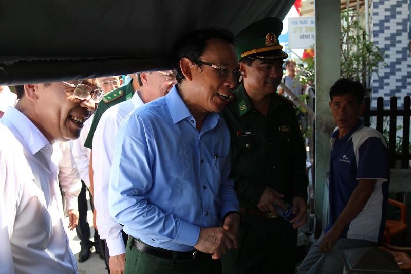 Bí thư Nguyễn Văn Nên đi khảo sát tại xã đảo Thạnh An - ảnh 4