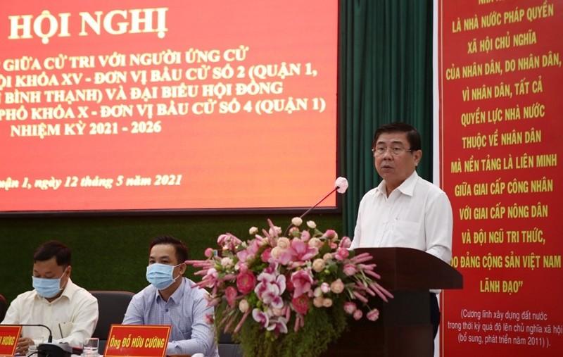 Ông Nguyễn Thành Phong cam kết tận tụy vì sự phát triển của TP - ảnh 2