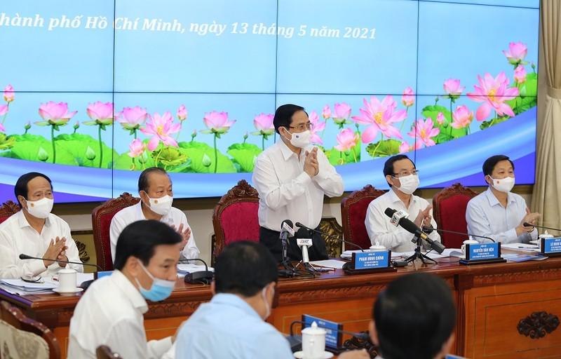 Thủ tướng Phạm Minh Chính làm việc với TP.HCM - ảnh 1
