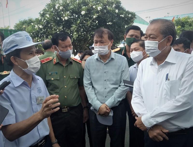 Phó Thủ tướng kiểm tra phòng dịch COVID ở KCX Tân Thuận - ảnh 1