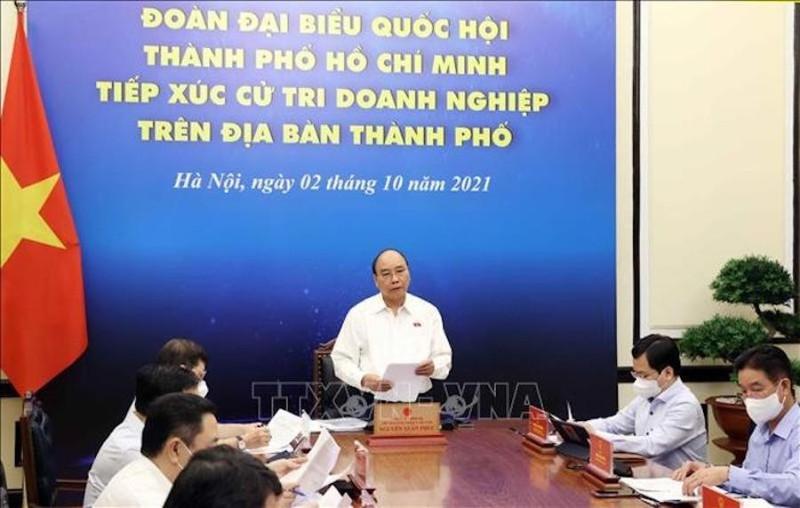 Chủ tịch nước: Từng bước nới giãn cách, giúp TP.HCM phục hồi kinh tế - ảnh 1