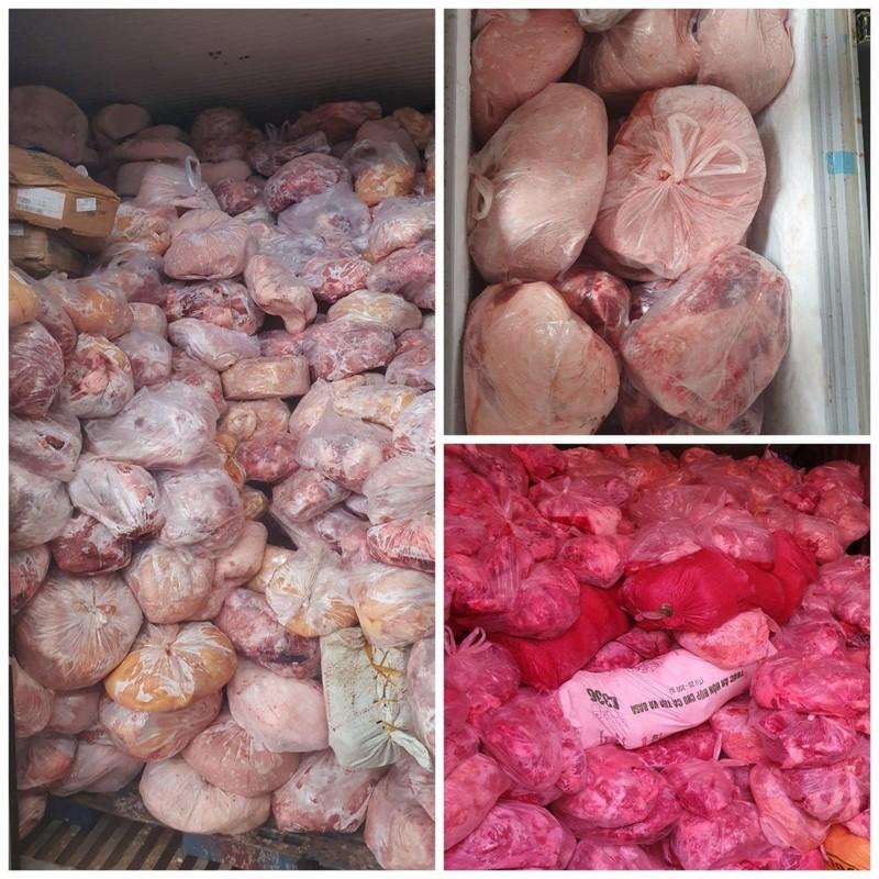 40 tấn thịt nhiễm dịch tả heo châu Phi tại cơ sở làm giò chả - ảnh 1
