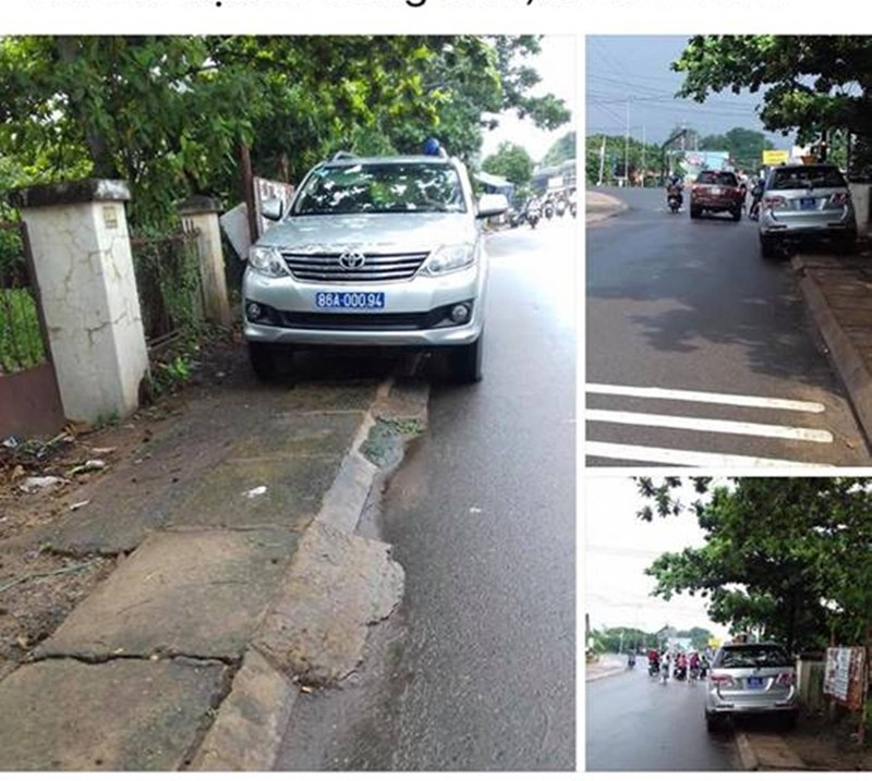 Bình Thuận thông tin về xe cảnh sát đỗ bên đường - ảnh 1
