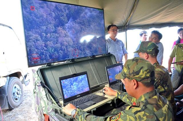 Bình Thuận dùng máy bay không người lái kiểm tra rừng - ảnh 1
