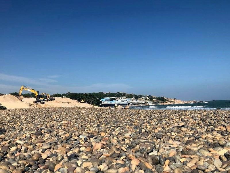 Bãi đá 7 màu bị lấp nằm trong hành lang bảo vệ bờ biển - ảnh 6